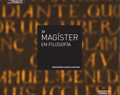 Magíster en Filosofía