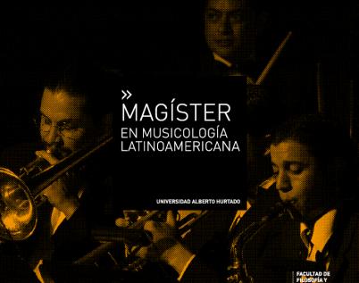 Magíster en Musicología Latinoamericana